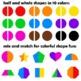 2D Shapes Clip Art - Trace / Finish / Match - Half Shape Symmetry