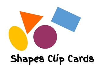 Shapes Clip Cards