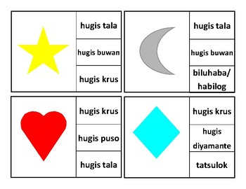 Shapes Clip Cards (Filipino Version)
