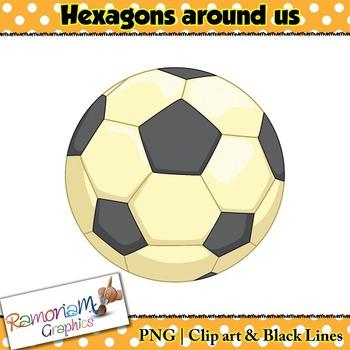 Shapes 2D Hexagons Clip art