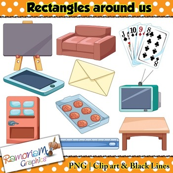 Shapes 2D Rectangles Clip art by RamonaM Graphics | TpT