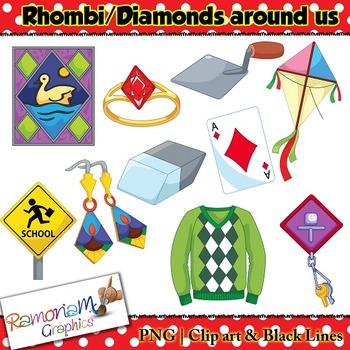 Shapes 2D Rhombus Clip art