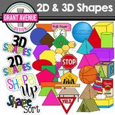 Shapes Clipart - 2D and 3D Shapes