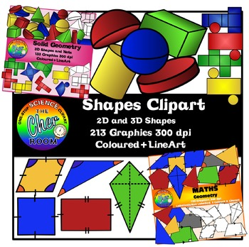 Shapes Clipart Bundle (Solid and Plane Geometry)