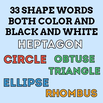 Shapes Clipart Pack - 2D Shapes