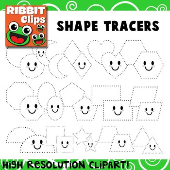 Shapes Clipart for Tracing