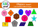 Shapes Clipart -happy smiley- (formes, math, sourire, kawaii)