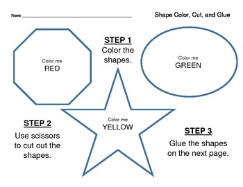 Shapes - Color, Cut and Glue
