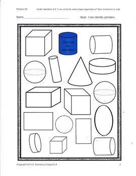 Shapes Coloring Sheets
