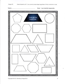Shapes Coloring Sheets