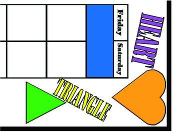 Shapes Calendar! Shapes and Colors Calendar! Shapes and Colors Bulletin Board!