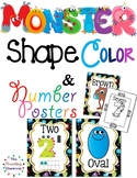 Shapes, Colors, & Number Monster Posters
