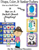 Shapes, Colors, & Number Posters  {Polka Dot Chevron Theme}