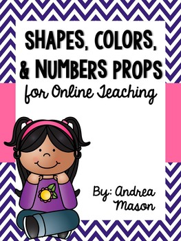 Shapes, Colors, & Numbers Props for Online Teaching (VIPKid)