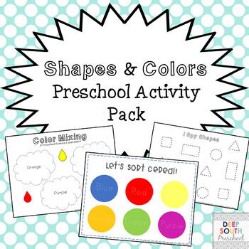 Shapes & Colors Preschool Activity Pack