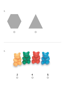 Shapes, Colors, and Counting Assessment