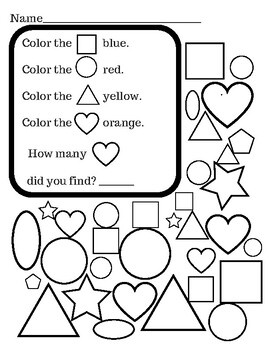 Shapes, Colors, and Counting to Five