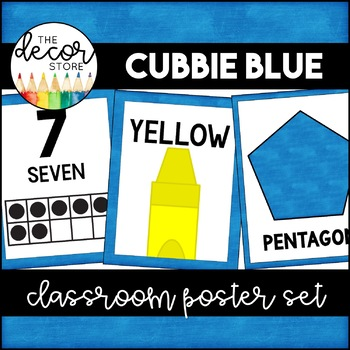 Shapes Colors and Numbers: Blue | Classroom Decor