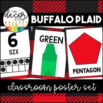 Shapes Colors and Numbers: Buffalo Plaid | Classroom Decor