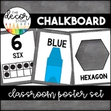 Shapes Colors and Numbers: Chalkboard | Classroom Decor