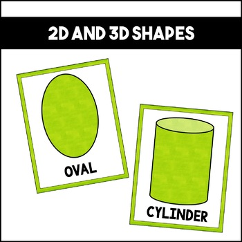 Shapes Colors and Numbers: Green | Classroom Decor
