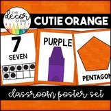 Shapes Colors and Numbers: Orange | Classroom Decor