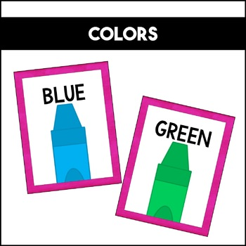 Shapes Colors and Numbers: Pink | Classroom Decor