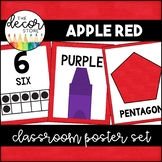 Shapes Colors and Numbers: Red | Classroom Decor