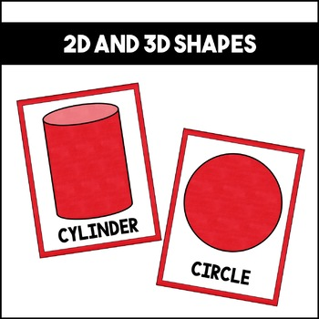 Shapes Colors and Numbers: Red   Classroom Decor