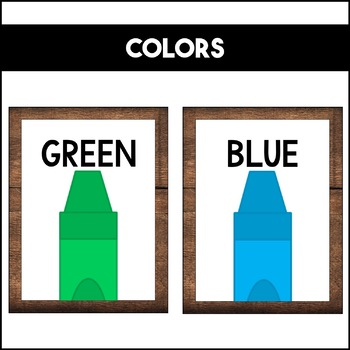 Shapes Colors and Numbers: Rustic Wood | Classroom Decor