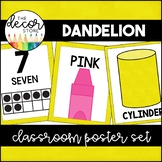 Shapes Colors and Numbers: Yellow | Classroom Decor