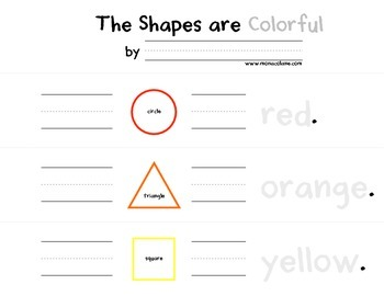 Shapes, Colors, and Sight Words, Oh My!