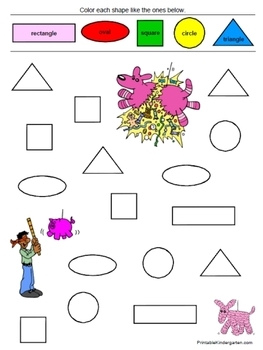 Shapes & Colors worsheets fun pack