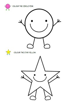 Shapes - Colouring pages {FREEBIE}