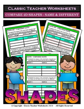 Shapes - Compare 2D Shapes - Same and Different - Grades 3-6 (3rd-6th Grade)