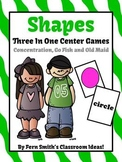 Shapes Concentration, Go Fish and Old Maid Center Games Dollar Deal