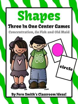 Shapes Concentration, Go Fish and Old Maid Center Games Do