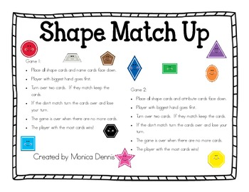 Shapes, Corners and Vertices