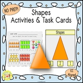 Shapes Count and Clip Task Cards