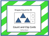 Shapes Worksheets Counting to 20 Kindergarten and Special Education Math Centers