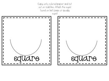Shapes Craftivity Template