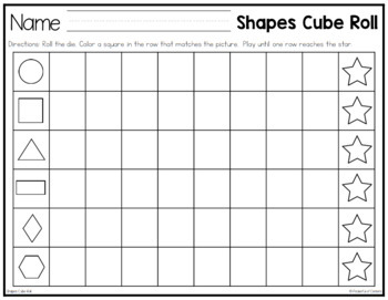 Shapes Cube Roll Math Game