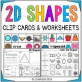 2D Shapes Worksheets Kindergarten