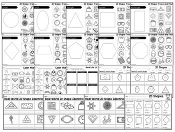 2d shapes worksheets kindergarten by learning desk tpt. Black Bedroom Furniture Sets. Home Design Ideas