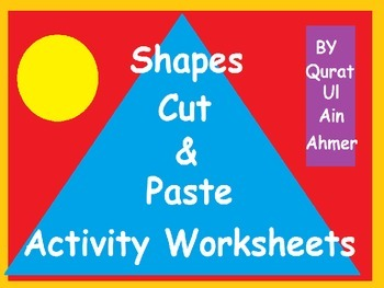 Shapes Cut and Paste Activity Worksheets:
