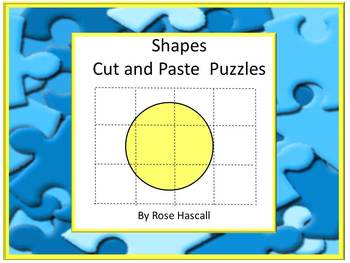 Shapes Cut and Paste Puzzles Fine Motor Special Education Math Autism Preschool