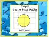 Shapes Cut and Paste Puzzles P-K,K,Special Education, Autism
