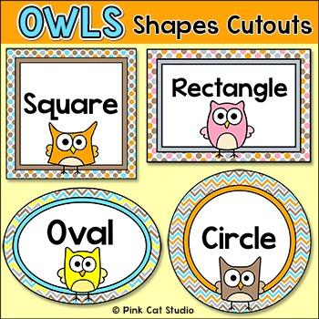 Shapes Cutouts- Owl Theme