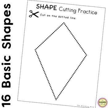 Shapes Cutting Practice with Scissors