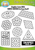 Shapes Dab-A-Dot Markers Graphics Clipart {Zip-A-Dee-Doo-Dah Designs}
